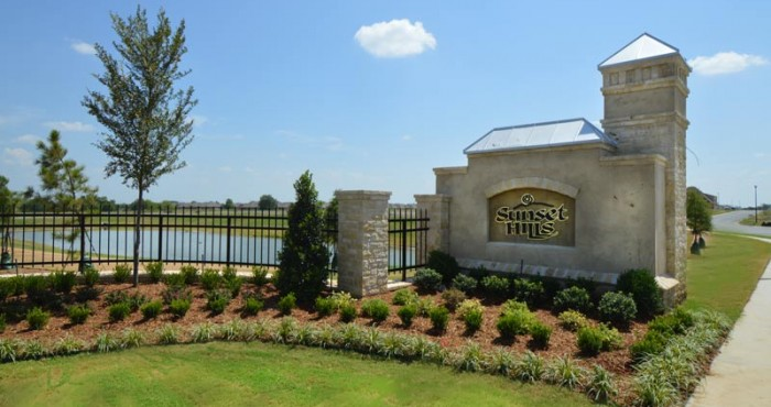 Sunset Hills Entry Tulsa